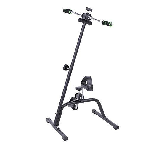 Wakects Pedali Doppio per Braccia e Gambe, Mini Cyclette pedaliera per Esercizi a casa Cyclette Esercizio Braccia E Le Gambe per Anziani Disabili, Altezza Regolabile in 73-96 cm