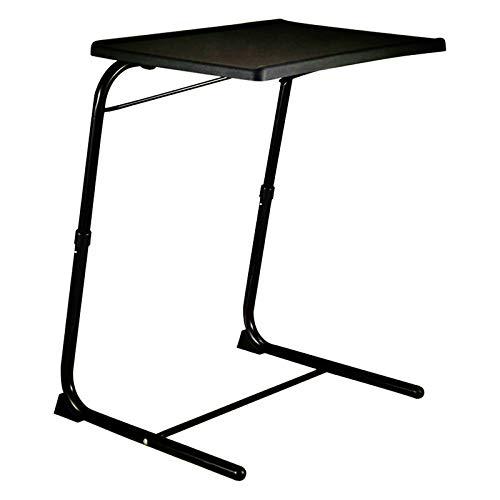 Ypkia Tavolino da salotto bianco per computer portatile, altezza regolabile, 70 cm, per soggiorno, alto, per la cura del letto, per la cura del divano