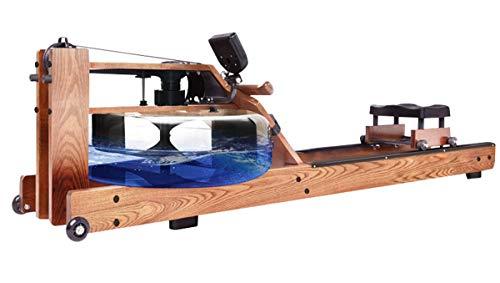 ZHBD Rego dell'Acqua con Resistenza Regolabile, Macchina Massiccio di Legno della Cenere con Monitor Bluetooth, Attrezzature di Allenamento per Palestre per La Casa Fitness Indoor