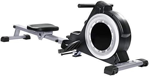 ZHBD Rematrice Magnetica con App E Bluetooth, Rower Pieghevole con Resistenza alla Tensione A 16 Livelli, Esercizio Corpo Intero per Uso Domestico