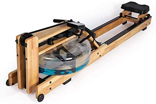 ZHBD Rowing Macchina A Doppia Traccia in Legno Massello, Vigilanza Intelligente Indoor con Monitor LCD, Fitness Aerobico per Uso Domestico per Uso Domestico