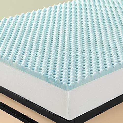 Zinus 7,6 cm Topper a flusso d'aria in memory foam Swirl Gel/ Schiuma certificata CertiPUR-US/ Topper in a box/ 140 x 190 cm