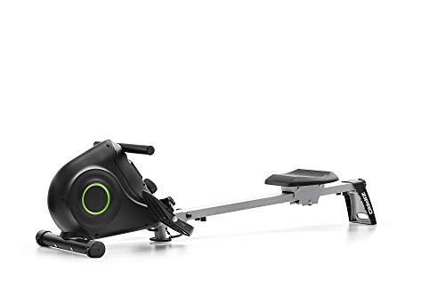 Zipro Nix 6299217 - Vogatore pieghevole per casa, sistema frenante magnetico silenzioso e senza manutenzione, sedile con cuscinetti a sfera, computer di allenamento, colore: Nero