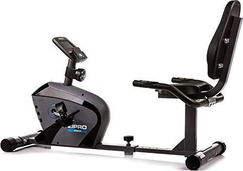 Zipro Unisex - Adulto Orizzontale Magnetico Fitness Bike Vision, Nero, Taglia Unica