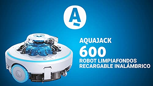 AquaJack Robot pulitore per piscina fuori terra elettrica con batteria e senza cavo AJ-600