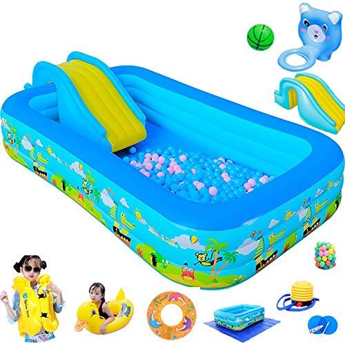 BBZZ - Piscina per bambini e adulti con piscina gonfiabile scivolo piscina piscina piscina