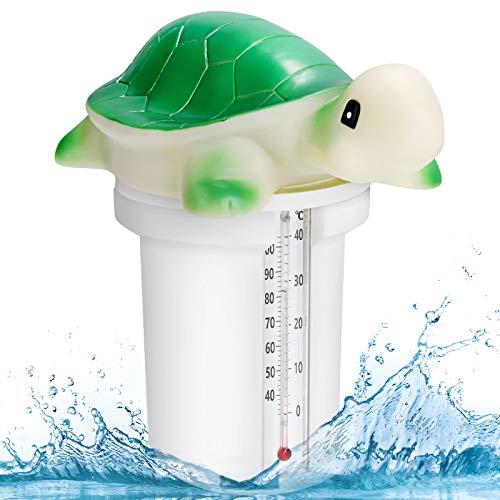 BearbroDispenser Chimico per Piscina,Dosatore di Cloro Piscina Bromo Ha un Termometro Incorporato di Grande Capacità,per Piscina e Vasca Idromassaggio