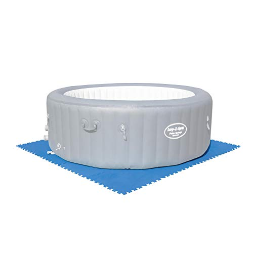 Bestway 58220 | Flowclear - Tappeto Sotto Piscina, 50X50 cm, Colore Blu, 9 Fogli Per Confezione