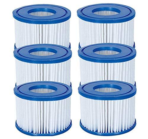 Bestway - Cartuccia per filtro taglia VI compatibile con le pompe Lay-Z-Spa modelli Miami, Vegas, Palm Springs, Monaco 6 Filters