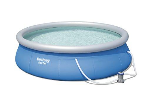 Bestway Fast Set Pool Piscina Gonfiabile, Blu, 396x396x84 cm