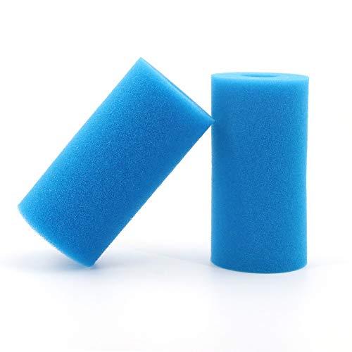 Cartuccia di Spugna in Schiuma Lavabile Riutilizzabile con Filtro per Piscina Intex Riutilizzabile da 2 Pezzi per Intex Tipo A