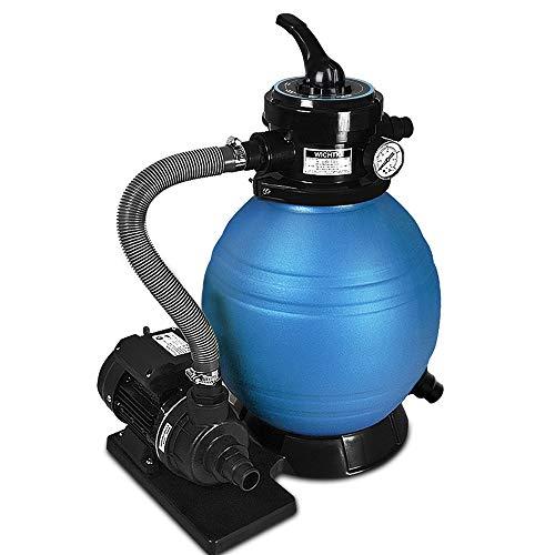 Deuba Pompa Filtro Piscina Portata 10.200 l/h Filtro Sabbia Pompa Filtro depuratore Serbatoio 20kg Pulizia fuoriterra