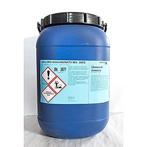 Dicloro 56% Cloro granulare Pulizia igiene Manutenzione Acqua Piscina kg 25