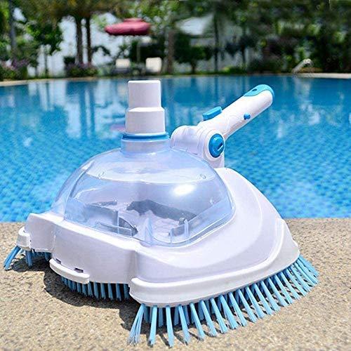 Ezeruier Strumenti per la pulizia e la manutenzione della piscina, spazzola per la testa della piscina con aspirazione a vuoto, dispositivo per l'aspirazione dello sporco, pulizia della spazzola per p