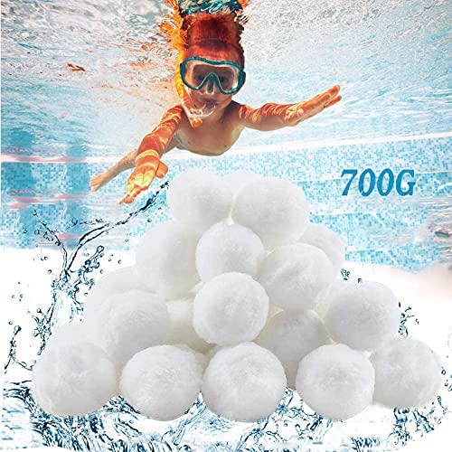 Filtro Balls,Filtro a Sfere di filtrazione,700g Filtro Balls Pool Filtraggio Sand Filter 25 kg Filtro Sabbia,Palline filtranti per Piscina,Essere riutilizzato,per Sabbia di Quarzo e Vetro filtrante