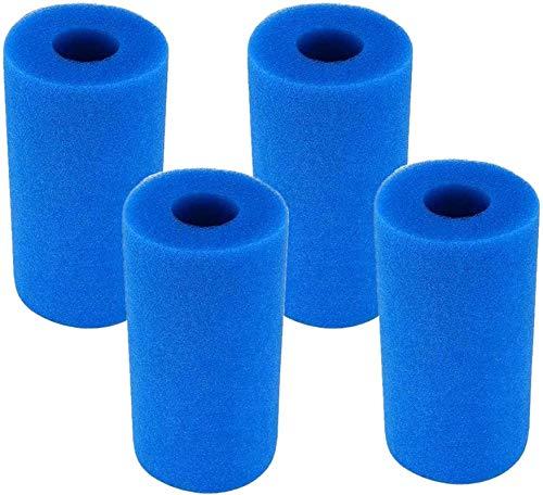 Filtro di schiuma per piscina, filtro in schiuma per piscina Intex Tipo A,per piscina tipo A,per piscina tipo A,con cartuccia di schiuma del filtro della piscina idromassaggio riutilizzabile(4 unità)