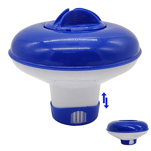 Floating Cloro Dispenser Bromo Chimico 12,7 cm Diametro Pieghevole Galleggiante 2,5 cm Mini Tablet per Piscina Spa Piscine Fuori Terra Gonfiabili Vasca Idromassaggio Fontana