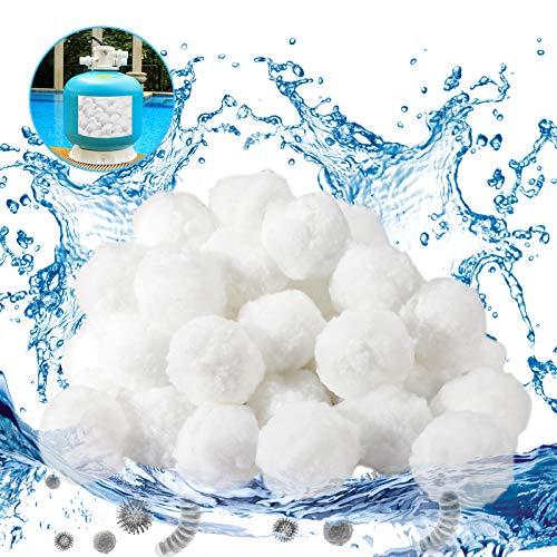 Gafild Sfera filtrante per Piscina,700g Filtro Balls Sfere per Filtrazione a Sabbia per Piscine può Essere riutilizzato Sabbia Filtrante, Utilizzate in Piscine, Pompe Filtranti e Acquari