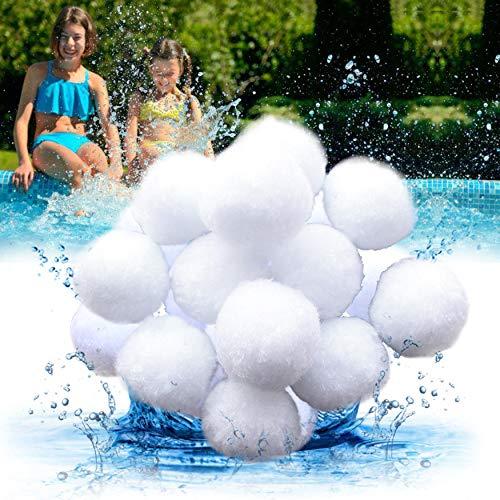 Hbitsae 1400g Filtro Balls,Sfere per Filtrazione a Sabbia per Piscine,Filtro 16L Media per Piscina Filtri per Acquario Alternativa alla Sabbia (3 Lbs Filter Ball è equivalente a 100 Lbs Filter Sand)