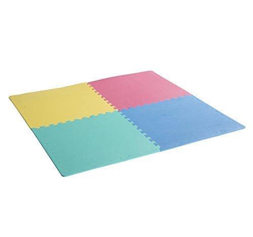 homcom Tappeto Puzzle Antiscivolo Colorato in Schiuma Eva Set da 24 Pezzi da 61x61cm, Tappeto Fitness e Gioco