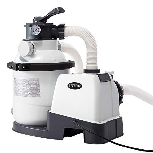 Intex 26644 Pompa a Sabbia - Flusso Acqua: 4.500 l/h, Flusso Sistema: 4.000 l/h