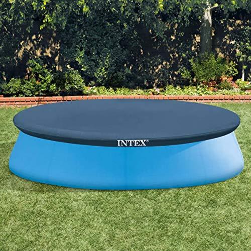 Intex 28021 Easy Telo di Copertura Estivo per Piscine gonfiabili e tonde di 305 metri di diametro, Blu