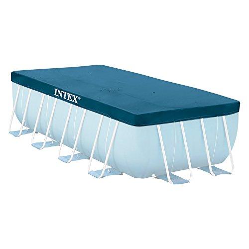 Intex 28037 Copertura per piscina rettangolare, Blu, 389x 184 cm