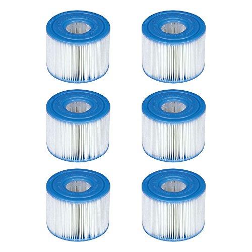 Intex 29001E PureSpa Type S1 Easy Set di cartucce Filtro per Piscina, 6 filtri