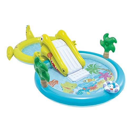 Intex–Centro di gioco acquatico con scivolo–2Piscina, 180/132L, 57164)