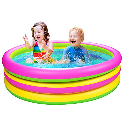 Joyjoz Piscina per Bambini 150 cm*36cm Piscina Gonfiabile Piscina Giardino Giocattoli Estivi per Famiglie Giochi d'Acqua all'Aperto e Interna