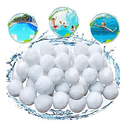 KATELUO 700g Filtro Balls,Sfere per Filtrazione a Sabbia per Piscine,Pool Filtraggio Sand Filter 25 kg Filtro Sabbia Sabbia di Quarzo qualità Prodotti (Bianco)