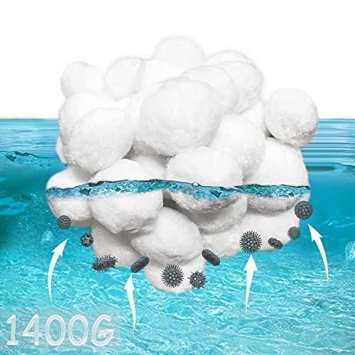 KITEOAGE Filtro a Sabbia per Piscina 1400G Filtraggio Balls per Sistemi di Filtri a Cartuccia Equivalente a 50KG di Sabbia Filtrante