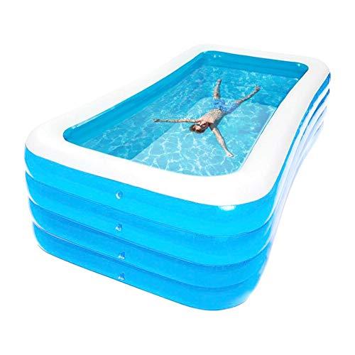 knowledgi Piscina gonfiabile, per la famiglia, ispessita, piscina gonfiabile, per bambini e adulti all'aria aperta