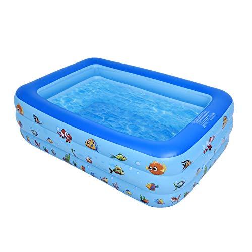 Piscina gonfiabile per famiglie, 173 * 120 * 46 cm, piscina lounge gonfiabile per neonati, bambini, bambini, adulti, neonati, all'aperto, giardino, cortile, festa in acqua estiva