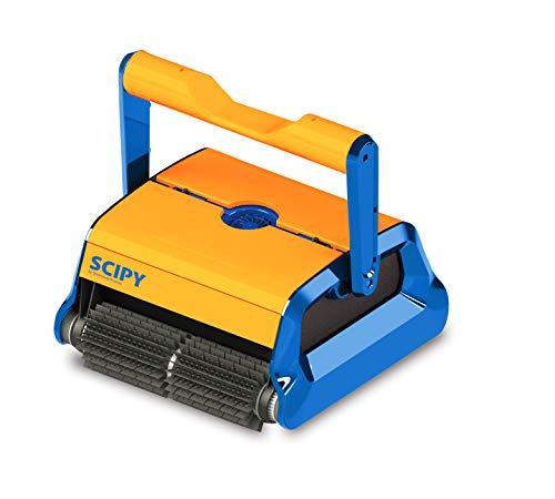 Prodotto QP – Pulitore per fondo SCIPY/Pulitore per piscine/Pulitore automatico piscina/Robot pulitore piscina/programma intelligente autoadattivo/Colore Arancione