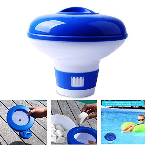Shengruili Dosatore galleggiante galleggiante galleggiante per piscina, dosatore galleggiante per dosare cloro, dispenser di cloro galleggiante