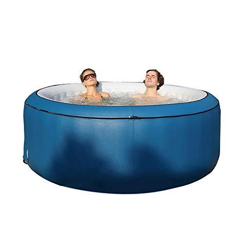 Spa gonfiabile con vasca idromassaggio,vasca idromassaggio per bagno,mantenimento efficiente della temperatura,700 litri per 2-4 persone,Vasca idromassaggio Gonfiabile per Esterni,42 ° C,1.8*0.7m