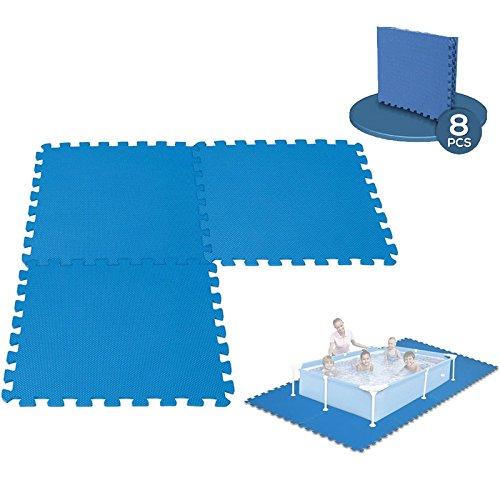 Tappeto da pavimento modulabile per piscina, 8 piastrelle da 50 x 50 cm