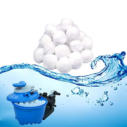 TUXUNQING Filtro Balls 1200g,può sostituire la Sabbia filtrante da 43kg, fAdatto per Piscine, Pompe filtraggio,Sistema di filtraggio a Sabbia,filtrazione dell'Acqua Sfere per Filtrazione