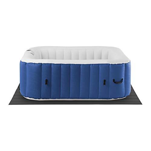 Uniprodo Vasca Idromassaggio Gonfiabile Piscina Idromassaggio Uni_Pools_19 (900 L, 6 Persone, 130 Bocchette, 1.800 Watt, Blu Scuro/Bianco)