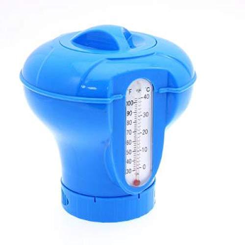 Waech - Dosatore per pastiglie di cloro per piscina e spa, venduto vuoto, non contiene pastiglie di cloro (dosatore con termometro)