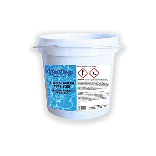 WalDeep - Cloro Granulare per Piscine 5 kg Sodio Dicloroisocianurato 56%