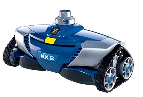 Zodiac W70668 Robot pulitore idraulico per piscine, fondo e pareti, per piscine 12 x 6 m massimo, aspirazione meccanica, MX8, blu