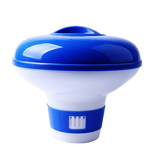 ZoneYan Dispenser Chimico per Piscina, Dosatore di Cloro Piscina Automatico, Distributore di Cloro Galleggiante, Erogatore di Cloro, Diffusore Cloro Piscina Piccola, 5 inch