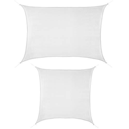 ALPIDEX Tenda Velo Sole 2m x 3m Cocco Vela Sole Ombreggiante HDPE Protezione Solare UV 90% Parasole Giardino Esterni