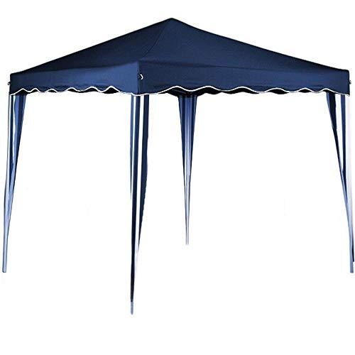 BAKAJI Gazebo 3x3 Mt Pieghevole Impermeabile Richiudibile 3 x 3 Tendone Giardino, Telo Impermeabile, Struttura Metallo Apertura e Chiusura a Fisarmonica, Modello Ischia (Blu)