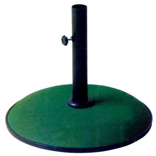 Base In Cemento Per Ombrellone Kroma Tonda Colore Verde 15 Kg.