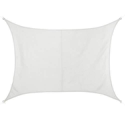 BB Sport Tenda Velo Sole 3m x 5m Cocco Rettangolare Vela Sole Ombreggiante 100% PES Protezione Solare UV 30+ Parasole Giardino Esterni