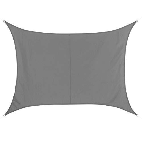 BB Sport Tenda Velo Sole 4m x 5m Granito Rettangolare Vela Sole Ombreggiante 100% PES Protezione Solare UV 30+ Parasole Giardino Esterni
