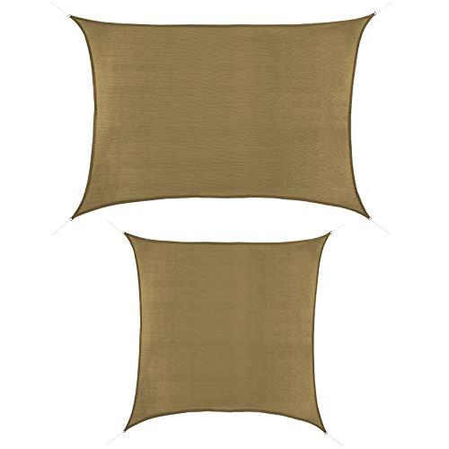 BB Sport Tenda Velo Sole 4m x 7m Cappuccino Vela Sole Ombreggiante HDPE Protezione Solare UV 90% Parasole Giardino Esterni